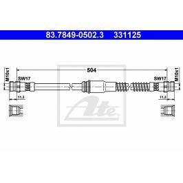 Brzdová hadice ATE AT 331125 Auto-moto