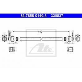 P/L Brzdová hadice ATE AT 330837 Auto-moto
