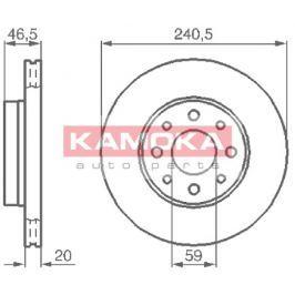 Kamoka Auto Parts Brzdový kotouč 1031776 Auto-moto