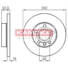 Kamoka Auto Parts Brzdový kotouč 1032022 Brzdové kotouče
