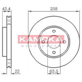 Kamoka Auto Parts Brzdový kotouč 1032144