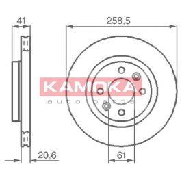 Kamoka Auto Parts Brzdový kotouč 1032192
