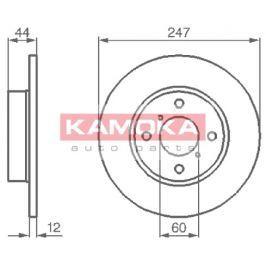 Kamoka Auto Parts Brzdový kotouč 1032296