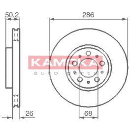Kamoka Auto Parts Brzdový kotouč 1032326 Brzdové kotouče