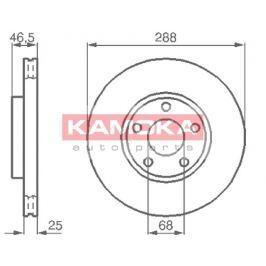 Kamoka Auto Parts Brzdový kotouč 103640