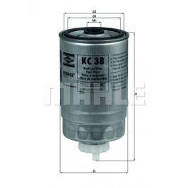 palivovy filtr MAHLE Aftermarket GmbH KC 38 MAH