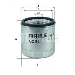 Olejový filtr MAHLE Aftermarket GmbH OC 91 MAH