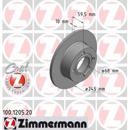 OTTO ZIMMERMANN GMBH Brzdový kotouč 100.1205.20