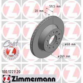OTTO ZIMMERMANN GMBH Brzdový kotouč 100.1227.20