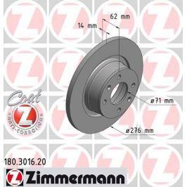 OTTO ZIMMERMANN GMBH Brzdový kotouč 180.3016.20