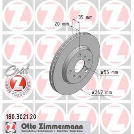 OTTO ZIMMERMANN GMBH Brzdový kotouč 180.3021.20