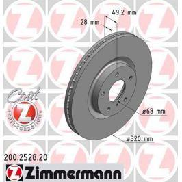 OTTO ZIMMERMANN GMBH Brzdový kotouč 200.2528.20