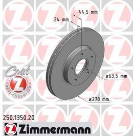 OTTO ZIMMERMANN GMBH Brzdový kotouč 250.1350.20