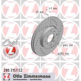 OTTO ZIMMERMANN GMBH Brzdový kotouč 280.3157.52