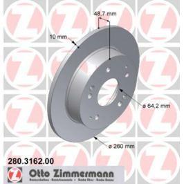 OTTO ZIMMERMANN GMBH Brzdový kotouč 280.3162.00