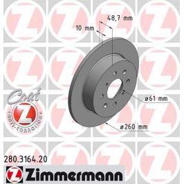 OTTO ZIMMERMANN GMBH Brzdový kotouč 280.3164.20
