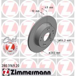 OTTO ZIMMERMANN GMBH Brzdový kotouč 280.3169.20