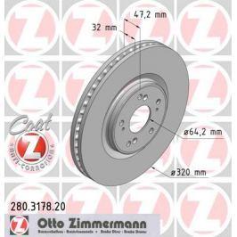 OTTO ZIMMERMANN GMBH Brzdový kotouč 280.3178.20