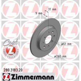 OTTO ZIMMERMANN GMBH Brzdový kotouč 280.3183.20