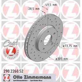 OTTO ZIMMERMANN GMBH Brzdový kotouč 290.2260.52