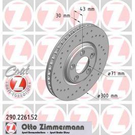 OTTO ZIMMERMANN GMBH Brzdový kotouč 290.2261.52