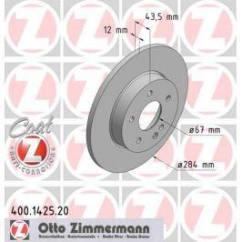 OTTO ZIMMERMANN GMBH Brzdový kotouč 400.1425.20