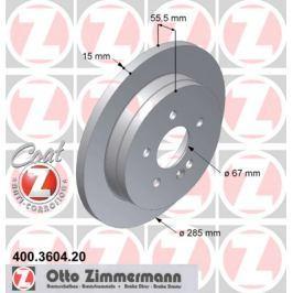OTTO ZIMMERMANN GMBH Brzdový kotouč 400.3604.20