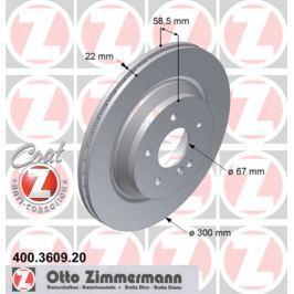 OTTO ZIMMERMANN GMBH Brzdový kotouč 400.3609.20