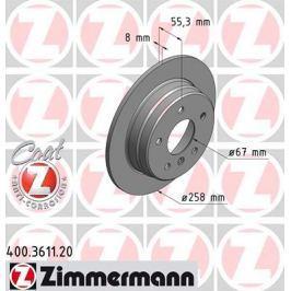 OTTO ZIMMERMANN GMBH Brzdový kotouč 400.3611.20