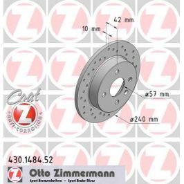 OTTO ZIMMERMANN GMBH Brzdový kotouč 430.1484.52