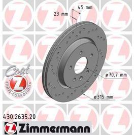 OTTO ZIMMERMANN GMBH Brzdový kotouč 430.2635.20
