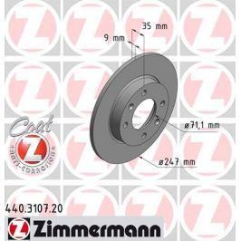 OTTO ZIMMERMANN GMBH Brzdový kotouč 440.3107.20