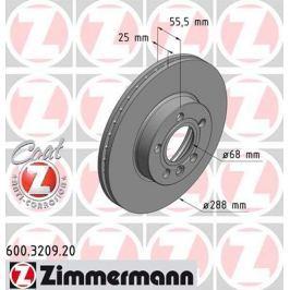 OTTO ZIMMERMANN GMBH Brzdový kotouč 600.3209.20