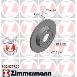 OTTO ZIMMERMANN GMBH Brzdový kotouč 600.3217.20