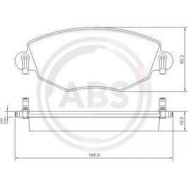 A.B.S. ALL BRAKE SYSTEMS BV. 37215 - A.B.S. brzdové destičky