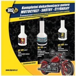 BG 6900 KIT dekarbonizace pro 4-taktní motocykly 3x100 ml