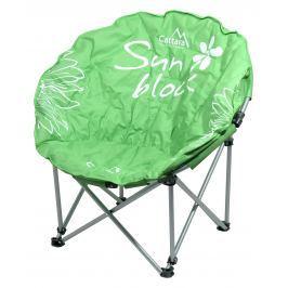 Cattara Židle kempingová skládací FLOWERS zelená
