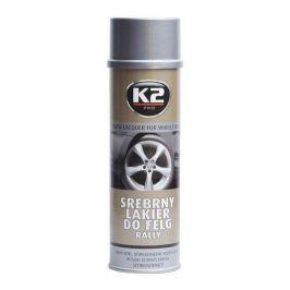 K2  SILVER LACQUER FOR WHEELS RALLY 500 ml - stříbrný lak na kola
