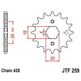 Řetězové kolečko JT JTF 259-17 17 zubů, 428