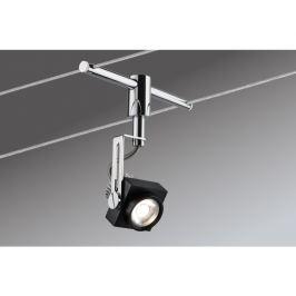 P 94081 Lankový systém LED 5x5W Phase 230/12V černá/chrom - PAULMANN