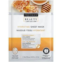 FREEMAN Beauty Infusion Hydratační látková maska manuka med + kolagen 25 ml