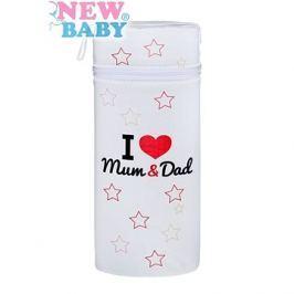 New Baby Termoobal Jumbo I love Mum and Dad bílý