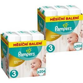 PAMPERS Premium Care vel. 3 Midi (408 ks) - dvouměsíční balení
