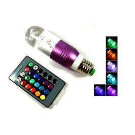 Barevná LED žárovka na dálkové ovládání