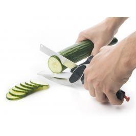 Chytrý kráječ 6 v 1, nůžky složené z nože a prkénka