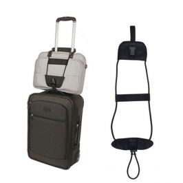 Elastický popruh pro připevnění dalšího zavazadla ke kufru