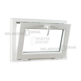Skladova-okna Sklopné plastové okno PREMIUM 750 x 550 barva bílá