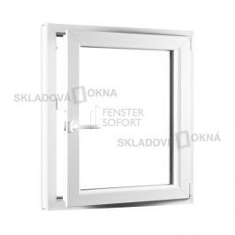 Skladova-okna Jednokřídlé plastové okno PREMIUM otvíravo-sklopné pravé 800 x 1000 mm barva bílá