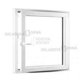 SKLADOVA-OKNA.cz, Jednokřídlé plastové okno PREMIUM, otvíravo-sklopné pravé, 950 x 1100 mm, barva bílá