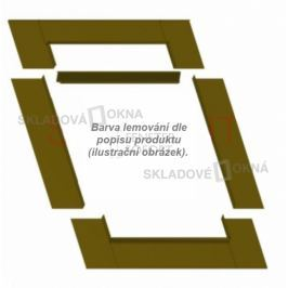 Skladova-okna Těsnící lemování na ploché krytiny šedá, 55cm x 78cm
